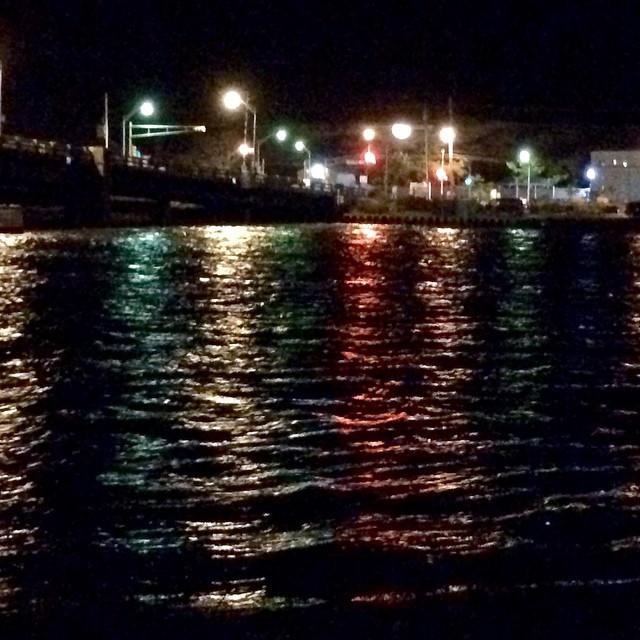 Moon rising over Sea Bright #lightsonwater #SeaBright #ShrewsburyRiver #moonrise