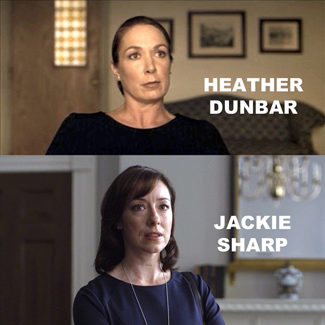 I can't be the only one who thought Heather Dunbar and Jackie Sharp were the same person for most of chapter 30. #HouseofCards