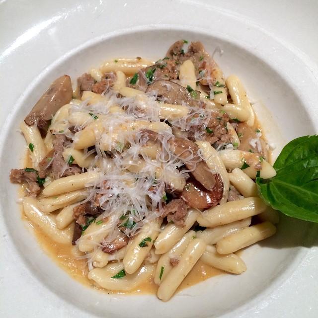 Cavatelli w sausage and Porcini #yum #Iliketakingpicturesoffood